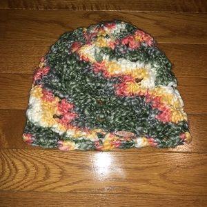 Billabong multicolored knit beanie hat